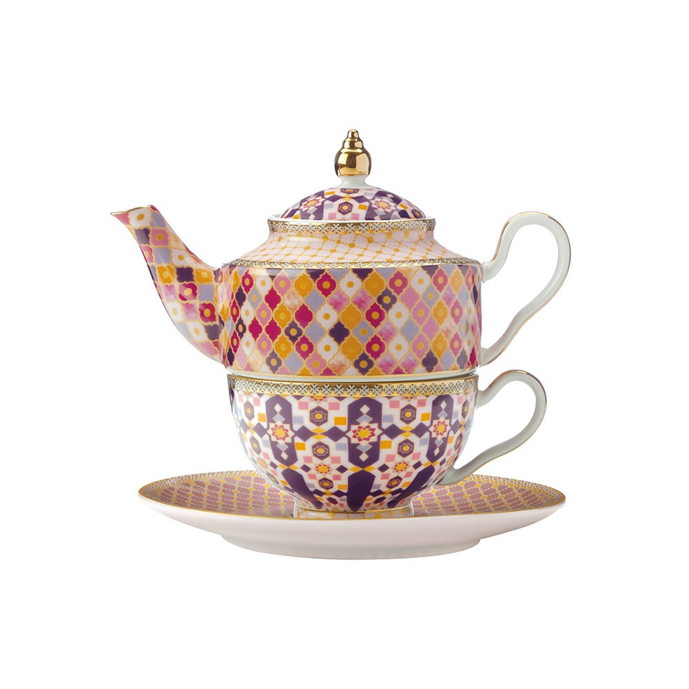 Maxwell & Williams Teas & C's Kasbah Porcelain Tea for 1 with Infuser 380ml Rose