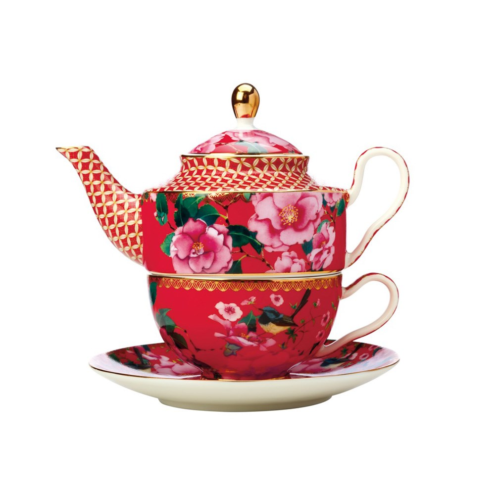 Maxwell & Williams Teas & C's Silk Road Tea for One with Infuser 380ml Cherry Red