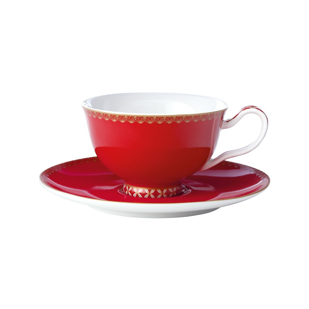 Maxwell & Williams Teas & C's Classic Footed Cup & Saucer 200ml Cherry Red