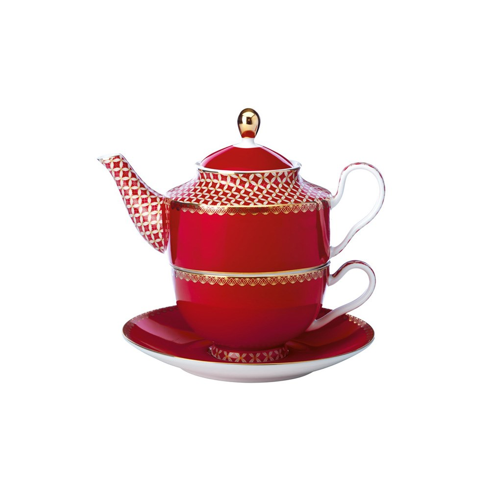 Maxwell & Williams Teas & C's Classic Tea for One with Infuser 380ml Cherry Red