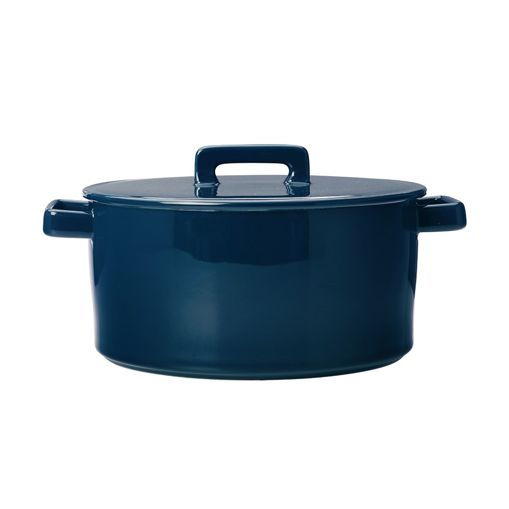 Maxwell & Williams Epicurious Round Casserole Gift Boxed 2.6L Teal