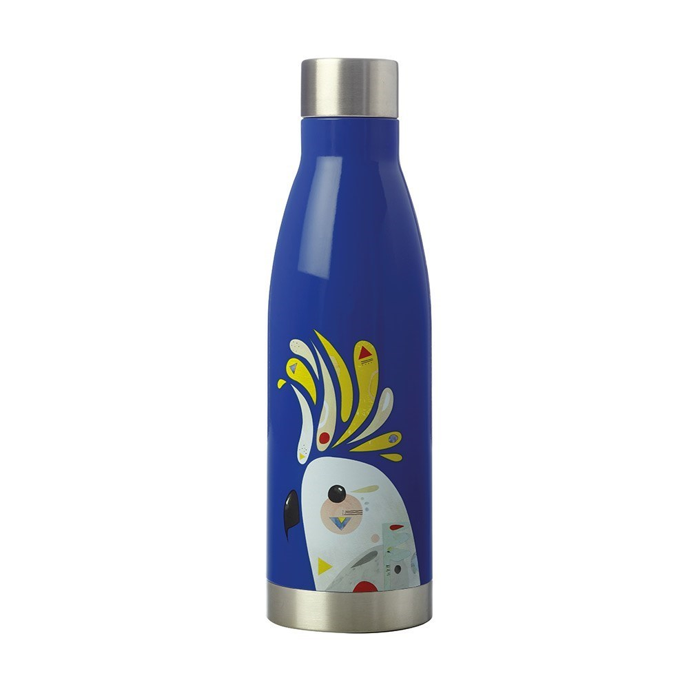 Maxwell & Williams Pete Cromer Double Wall Drink Bottle 500ml Cockatoo