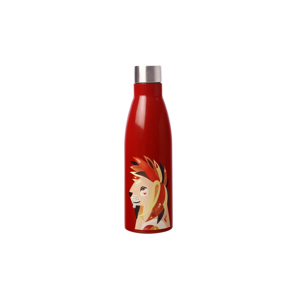 Maxwell & Williams Pete Cromer Wildlife Double Wall Insulated Bottle 500ml Lion
