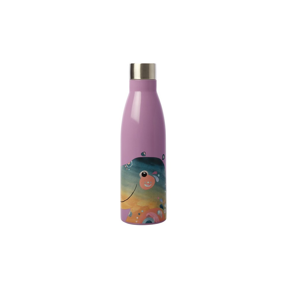 Maxwell & Williams Pete Cromer Wildlife Double Wall Insulated Bottle 500ml Hippo