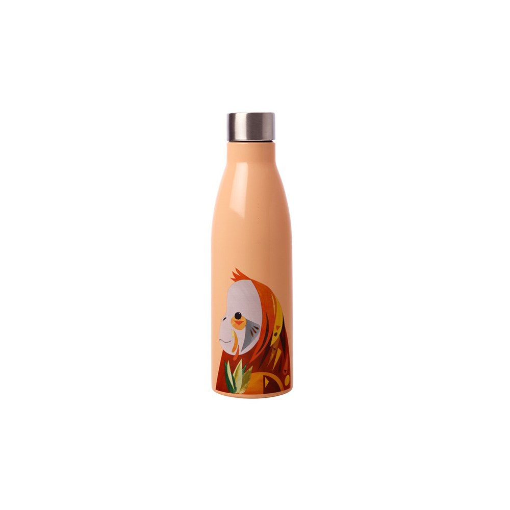 Maxwell & Williams Pete Cromer Wildlife Double Wall Insulated Bottle 500ml Orangutan