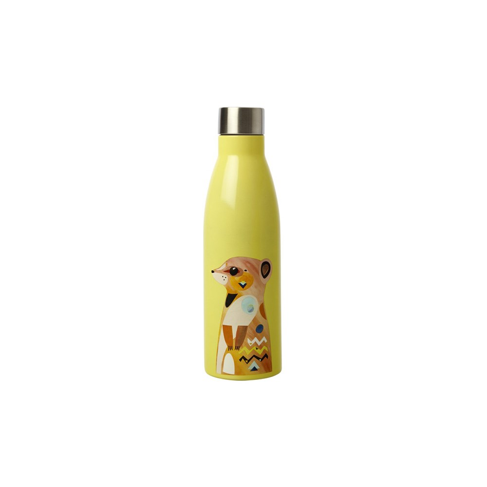 Maxwell & Williams Pete Cromer Wildlife Double Wall Insulated Bottle 500ml Meerkat