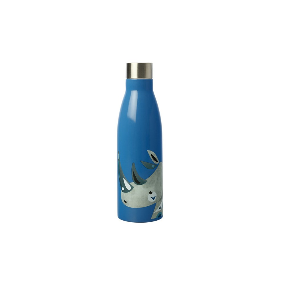 Maxwell & Williams Pete Cromer Wildlife Double Wall Insulated Bottle 500ml Rhino