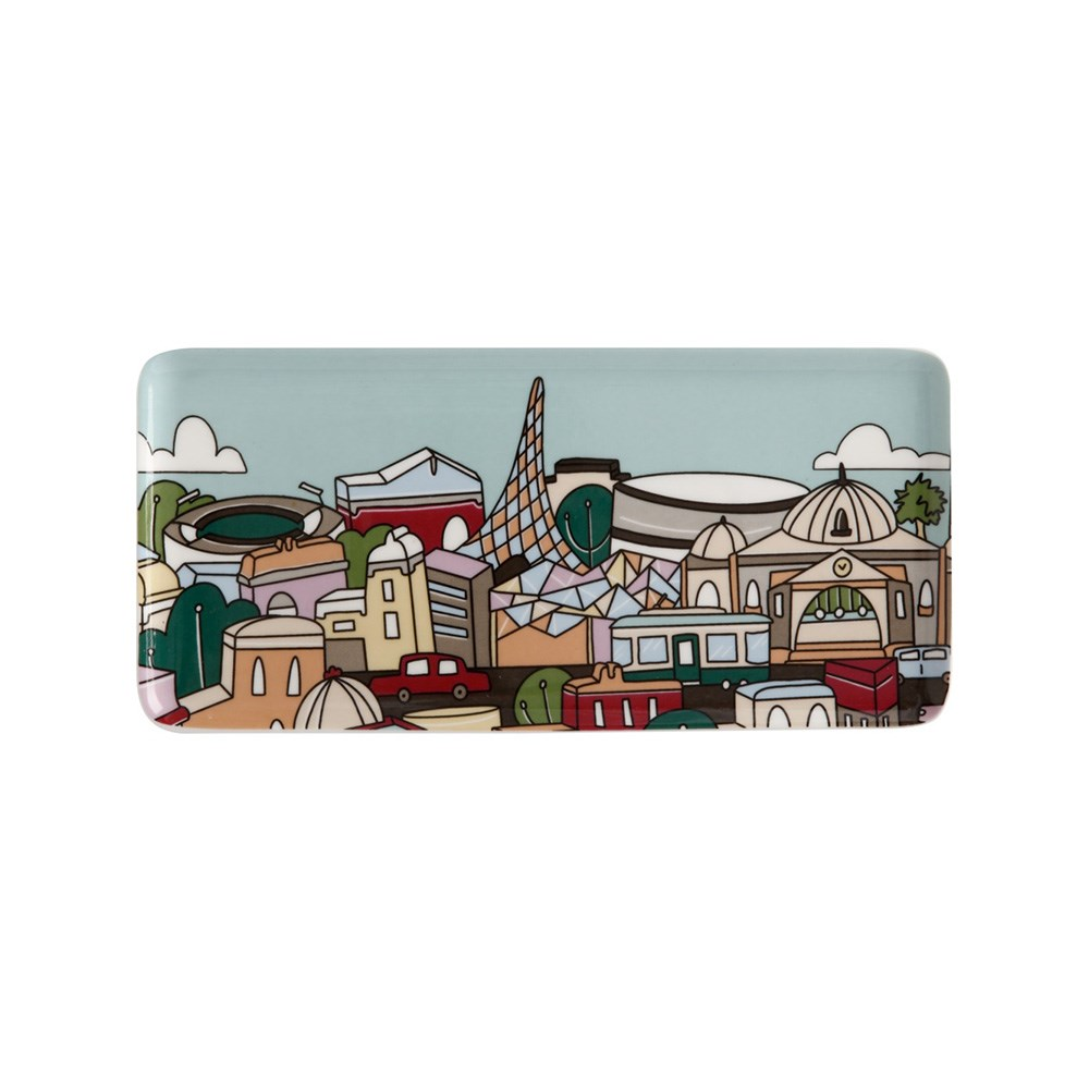 Maxwell & Williams Megan McKean Cities Rectangle Plate 25x12cm Melbourne