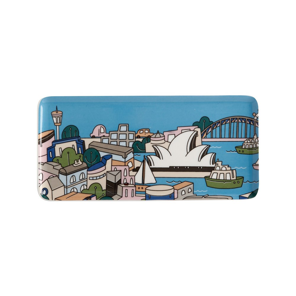 Maxwell & Williams Megan McKean Cities Rectangle Plate 25x12cm Sydney