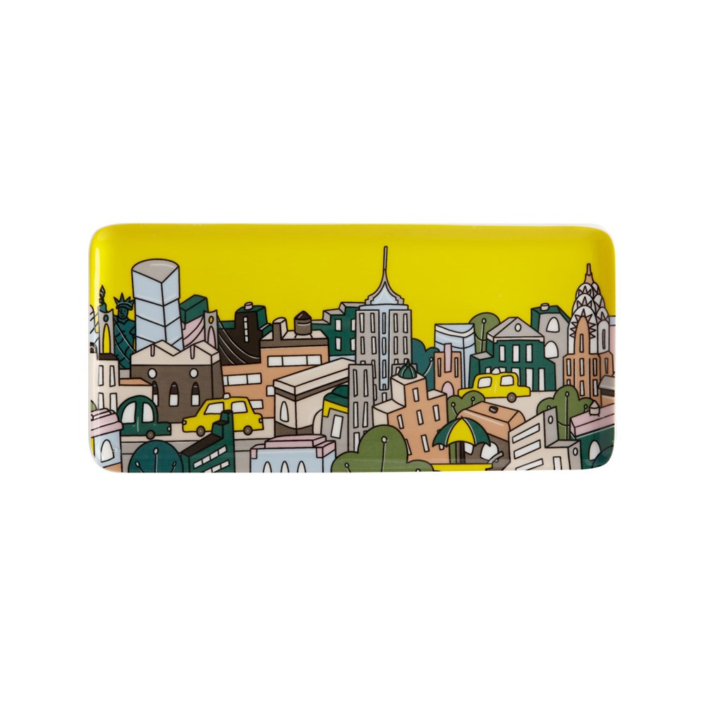 Maxwell & Williams Megan McKean Cities Rectangle Plate 25x12cm New York