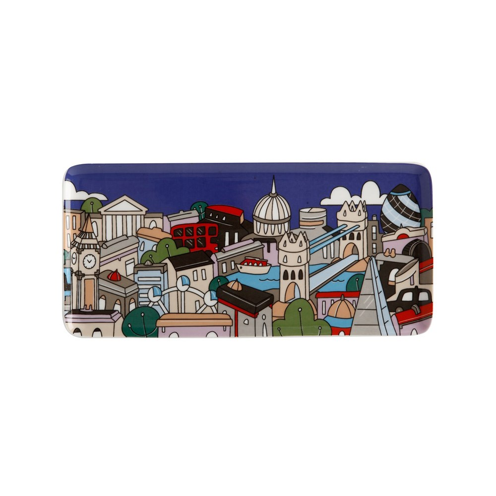 Maxwell & Williams Megan McKean Cities Rectangle Plate 25x12cm London