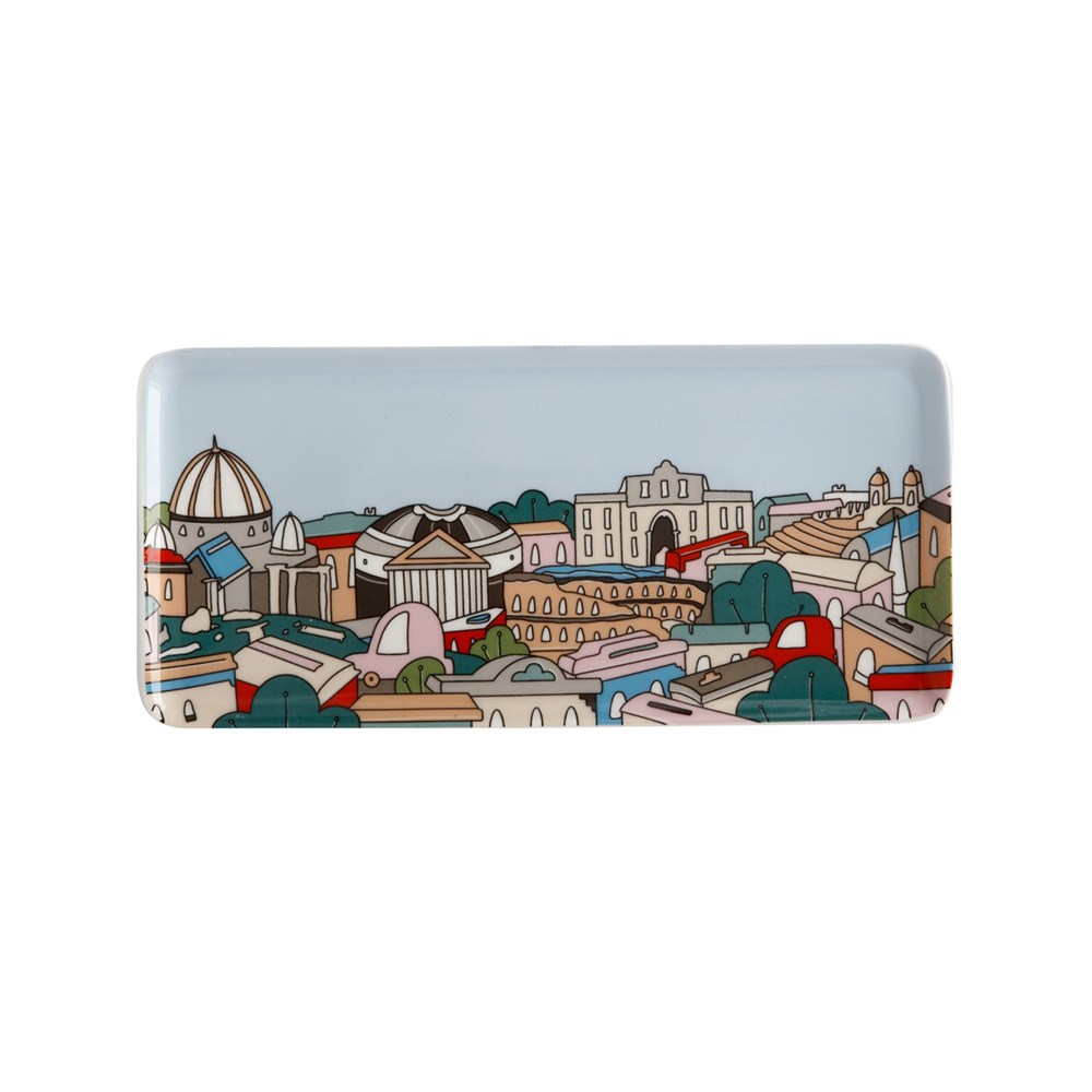 Maxwell & Williams Megan McKean Cities Rectangle Plate 25x12cm Rome