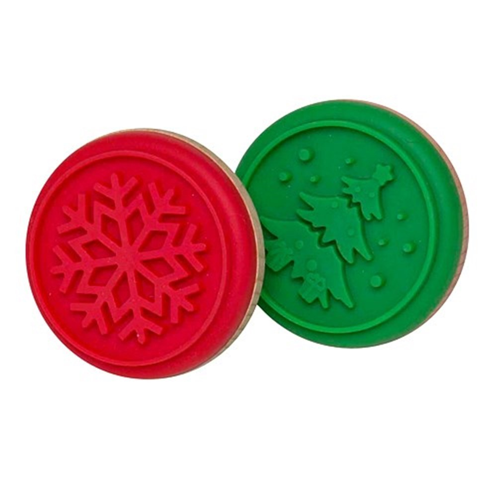 Soffritto Professional Bakeware Cookie Stamp 6.5cm Snowflake or Tree