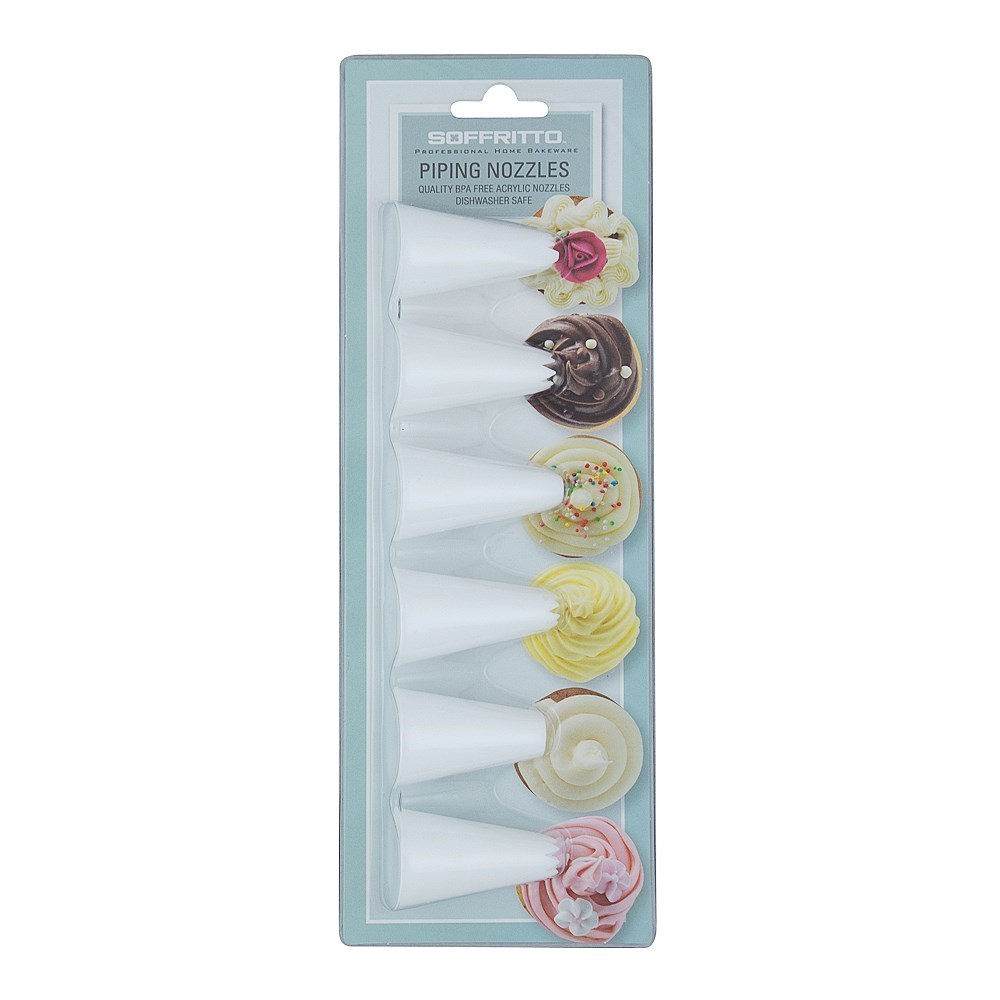 Soffritto Professonal Bake Acrylic Nozzle Set of 6