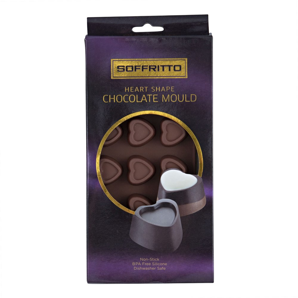Soffritto Professional Bake Chocolate Mould Heart