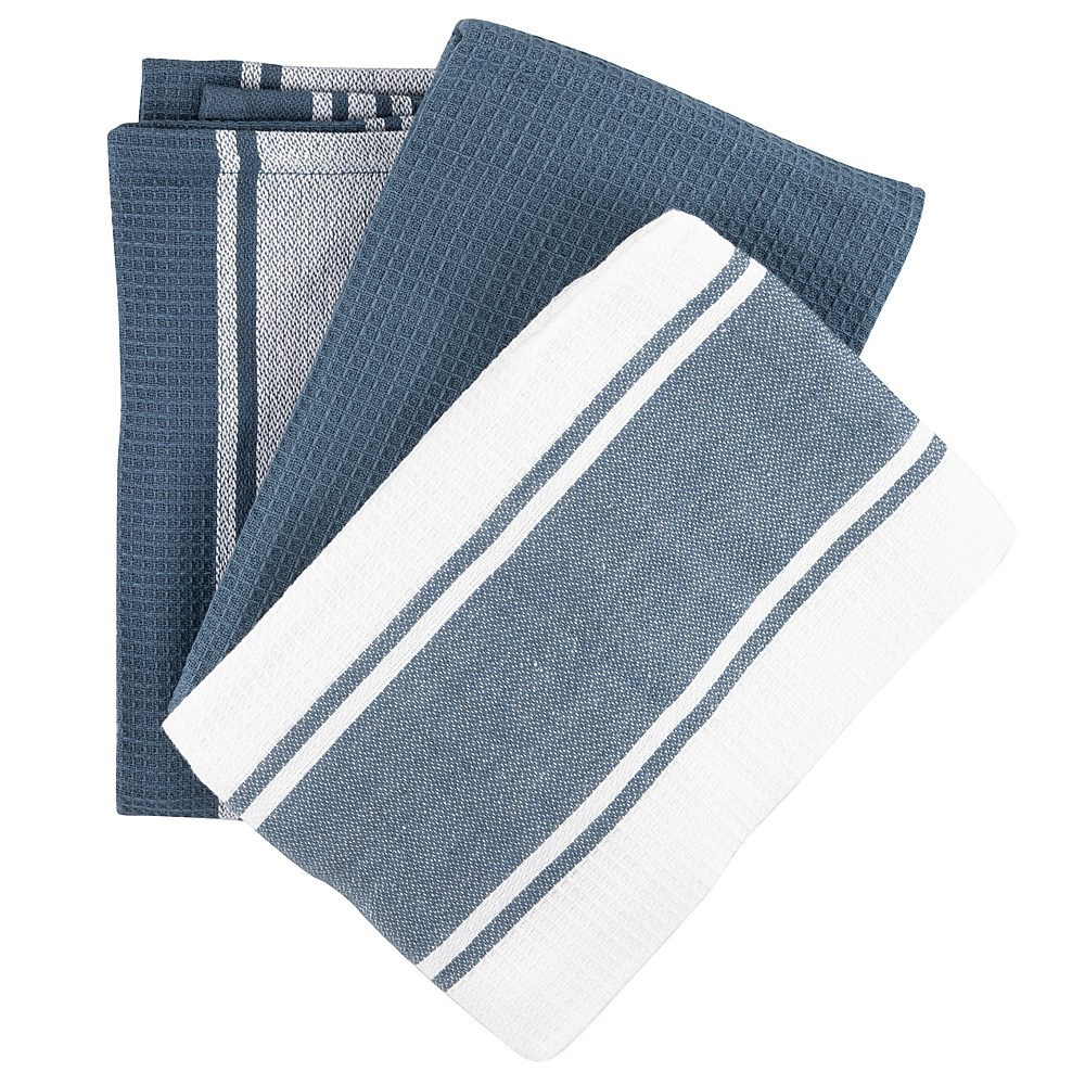 Scullery Pura Tea Towel Set of 3 Grey