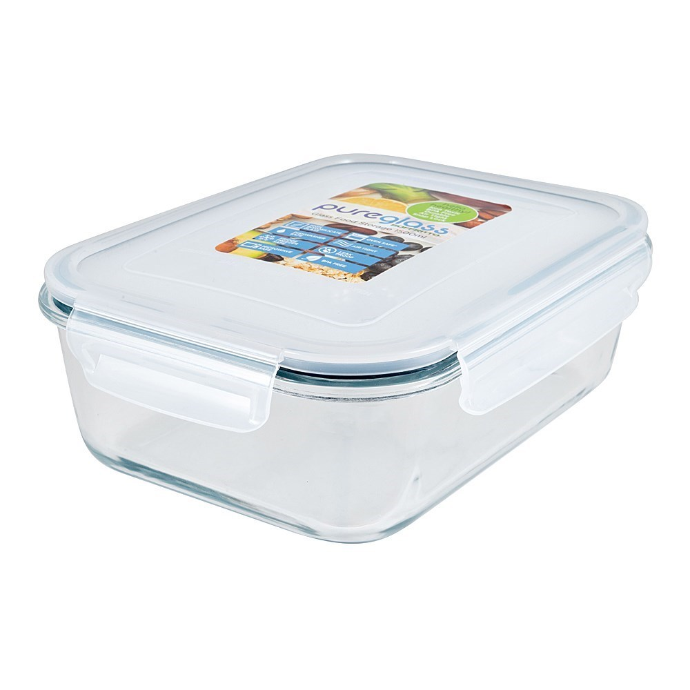 Soffritto Pure Glass Airtight Food Storage Container 630ml