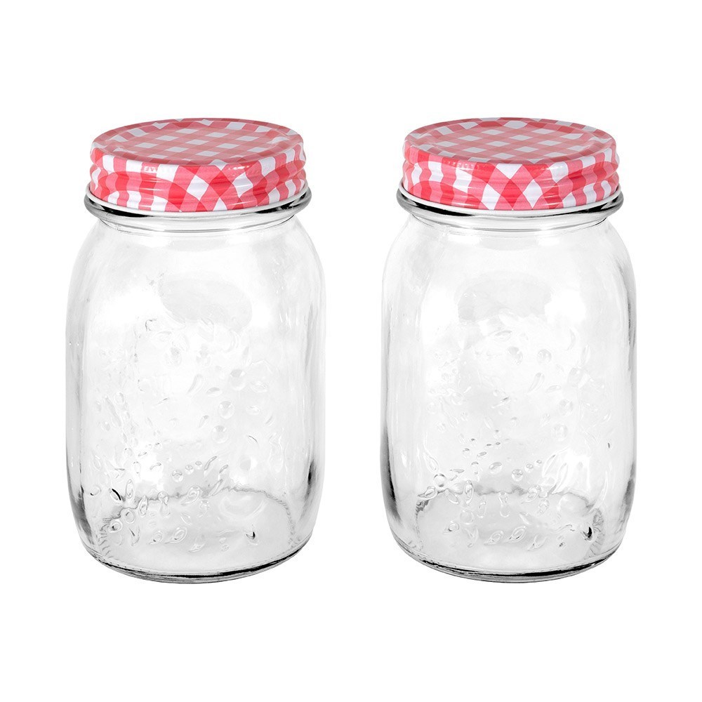 Scullery Essentials 2 Piece Glass Storage Jars Set 500ml