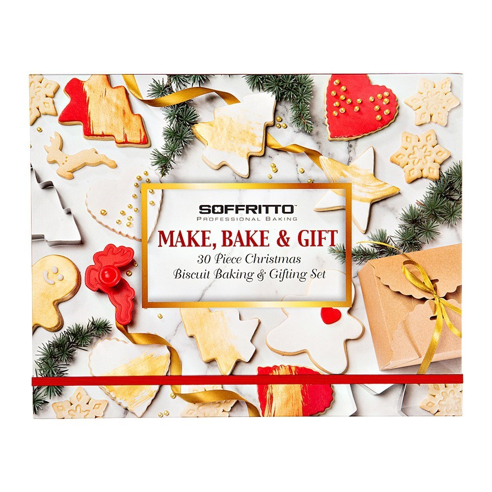 Soffritto Professional Bake 30 Piece Make, Bake & Gift Christmas Biscuit Gifting Set