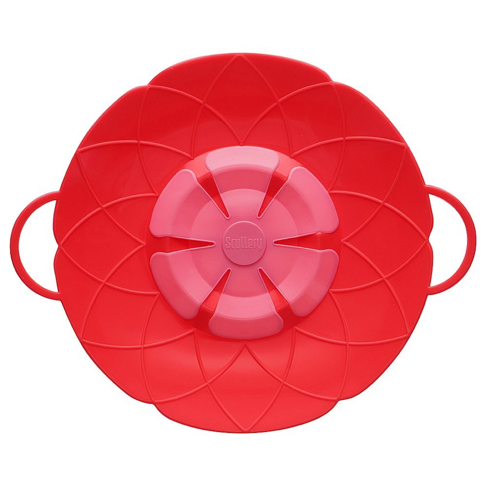 Scullery Kolori Silicone No Spill Lid 25.5cm Red