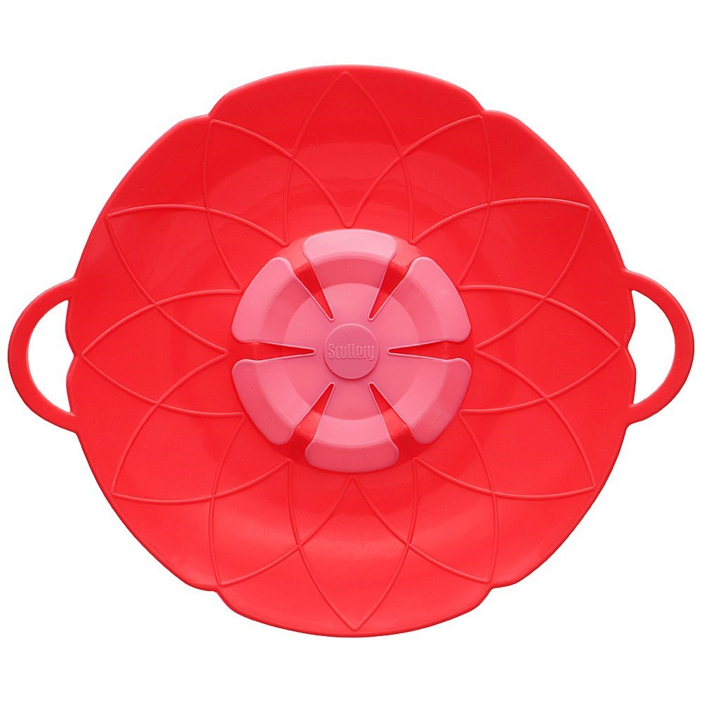 Scullery Kolori Silicone No Spill Lid 29.5cm Red