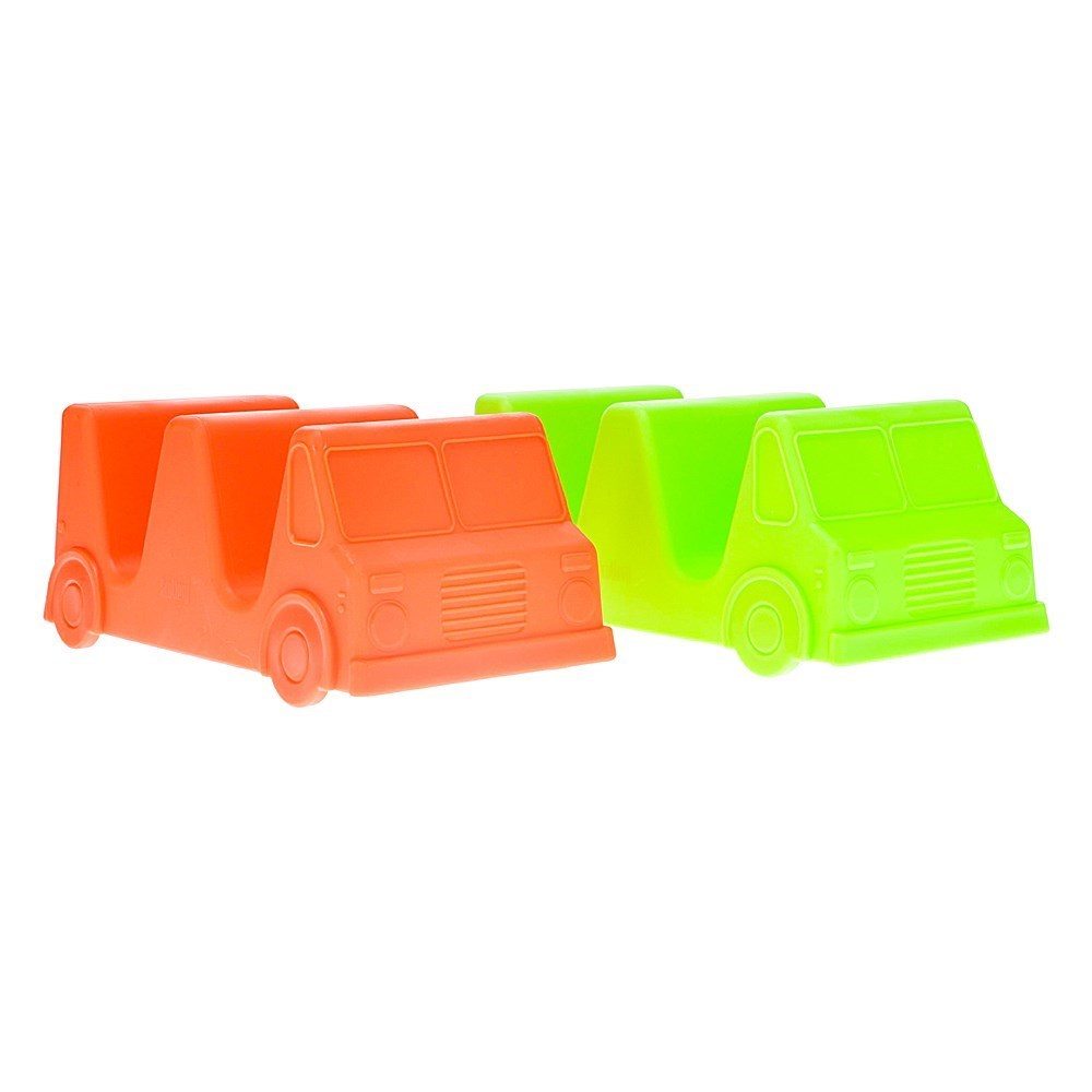 Scullery Novelty Plastic Taco Truck Set of 2 Red & Green