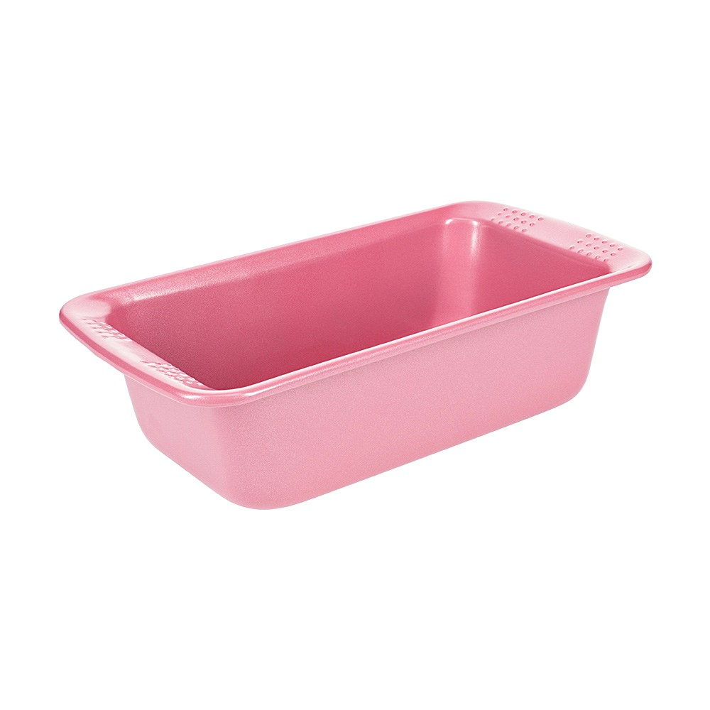 Soffritto Commercial Non-Stick Carbon Steel Loaf Pan 21 x 12 x 6cm Pink
