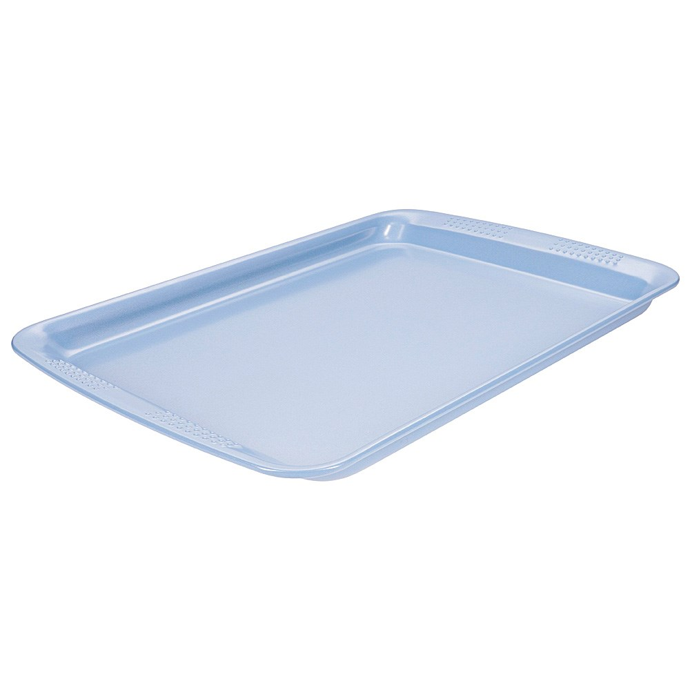 Soffritto Commercial Non-Stick Carbon Steel Oven Tray 37 x 27 x 1.8cm Teal