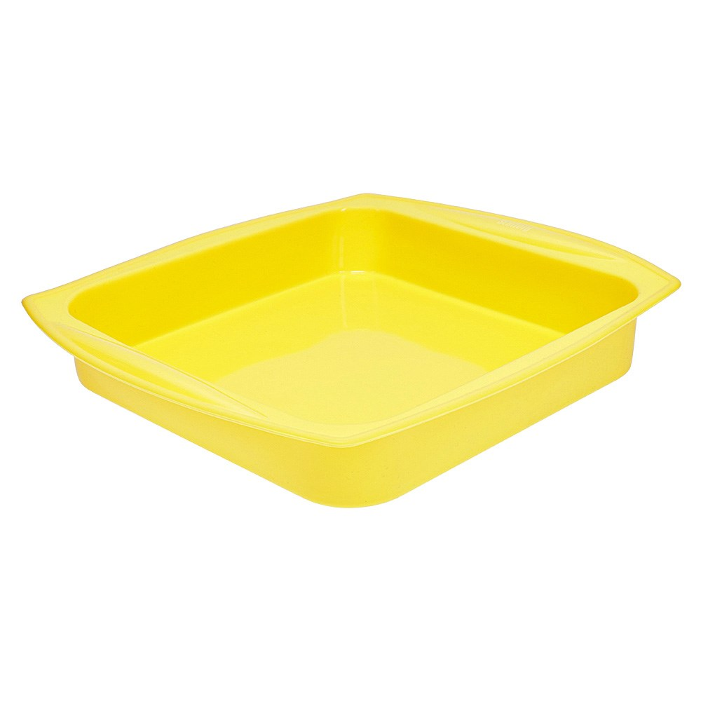 Scullery Kolori Silicone Square Baking Pan Yellow