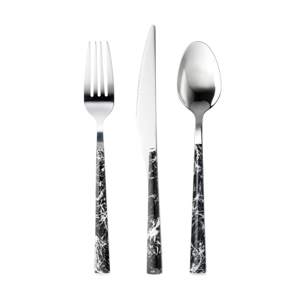 Ambrosia Tate 12 Piece Stainless Steel Cutlery Set Black