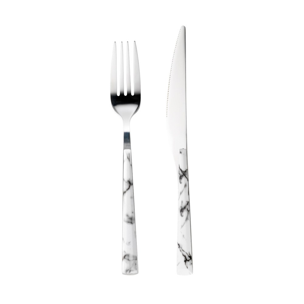 Ambrosia Tate 12 Piece Stainless Steel Cutlery Set Marble