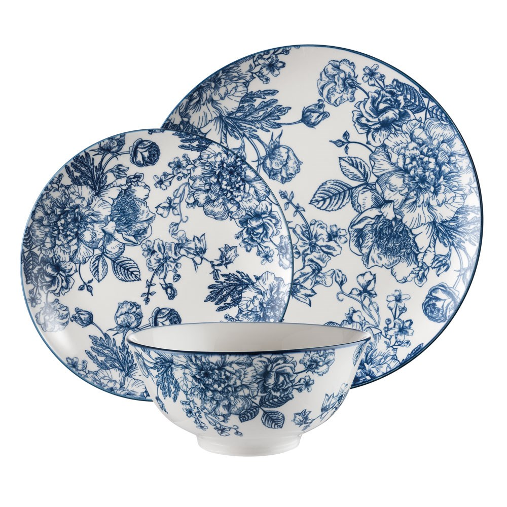 Ambrosia Brooke Dinner Set 12 Piece Navy
