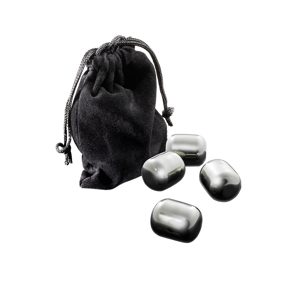 Cellar Premium Stainless Steel Wine Chilling Pearls Set of 4