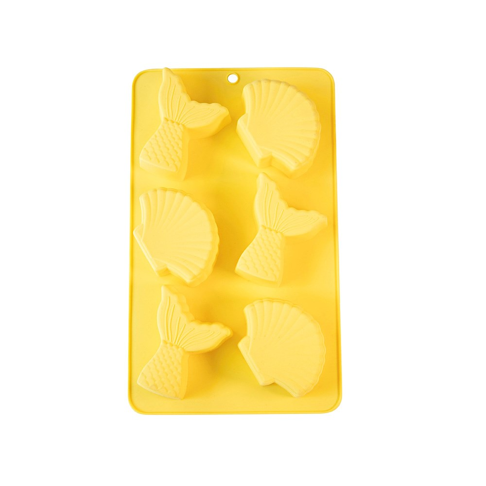 Soffritto Professional Bake Novelty Silicone 6 Cup Cake Pan Mermaid