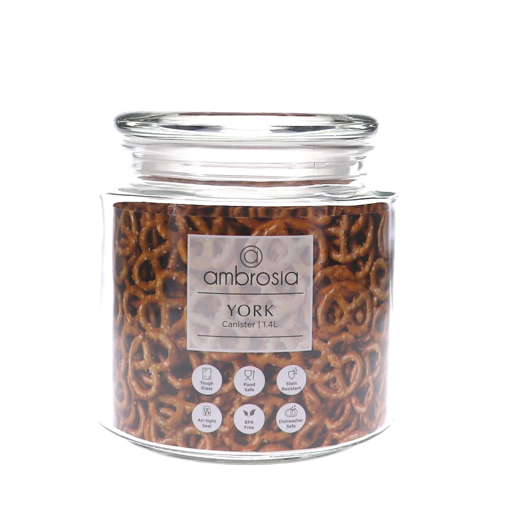 Ambrosia York Glass Canister 1.4L