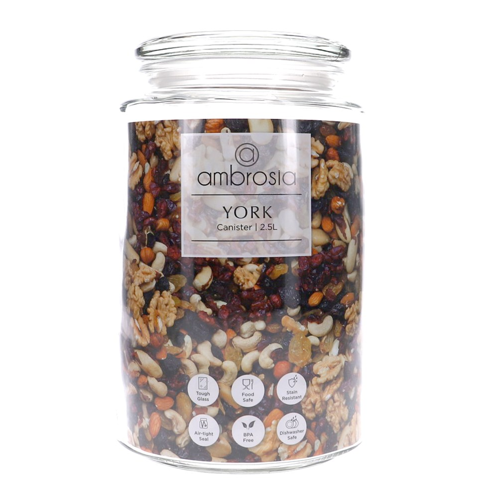 Ambrosia York Glass Canister 2.5L