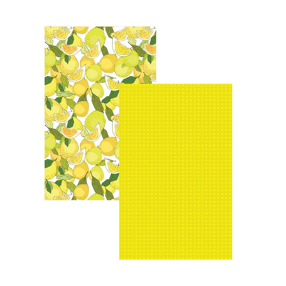 Ambrosia Lemon 2 Piece Cotton Tea Towel Set 50 x 70cm