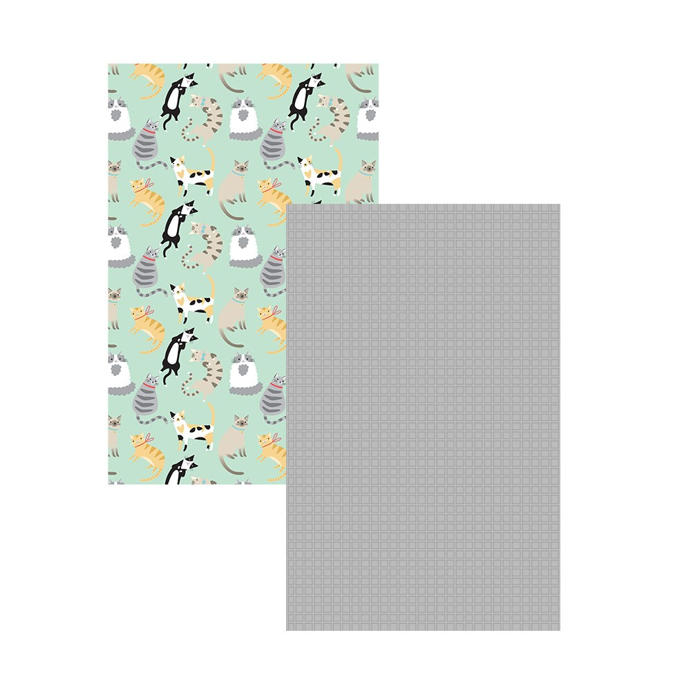 Ambrosia Cats 2 Piece Cotton Tea Towel Set 50 x 70cm