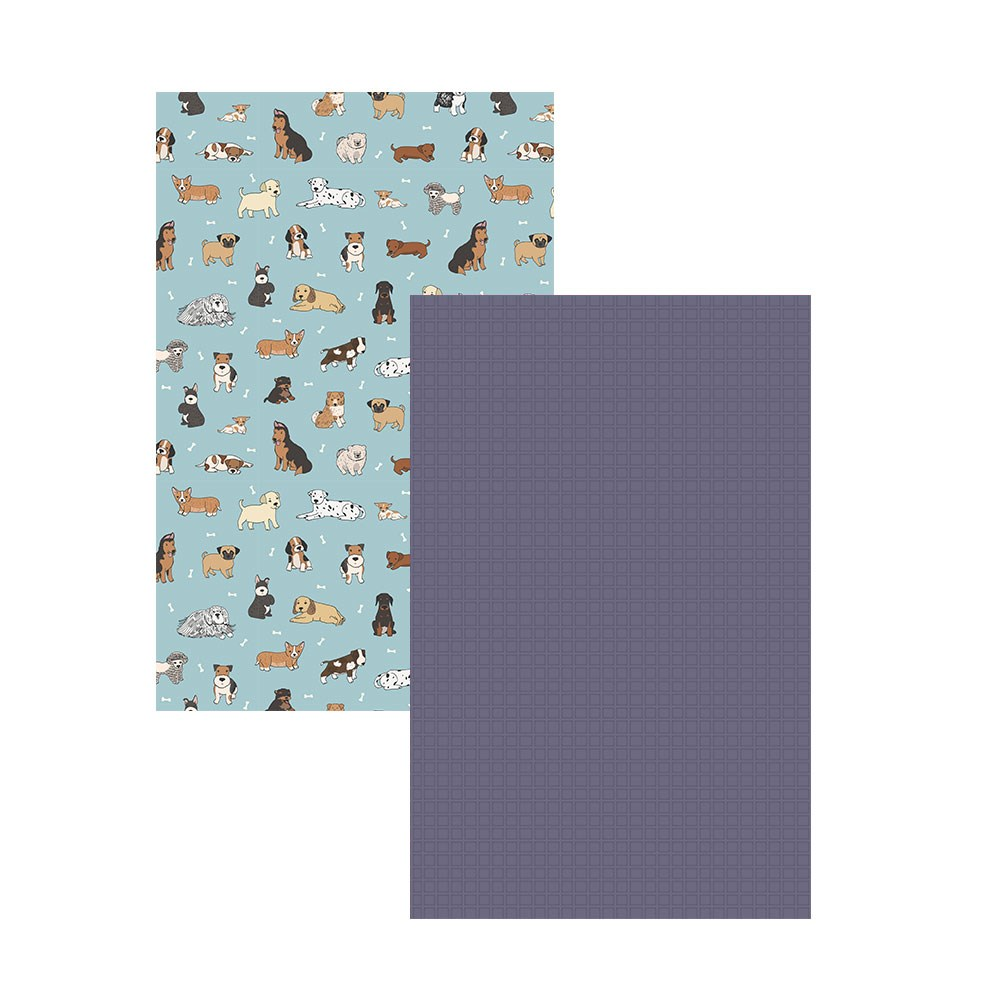 Ambrosia Dogs 2 Piece Cotton Tea Towel Set 50 x 70cm