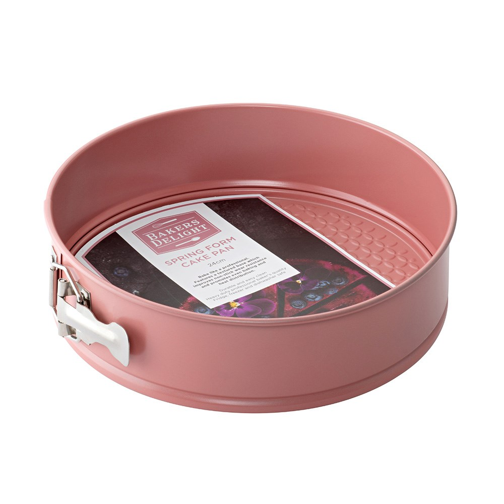 Bakers Delight Cuisson Carbon Steel Non Stick Spring Form Pan 24cm Rose