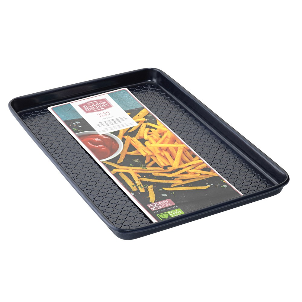 Bakers Delight Cuisson Carbon Steel Non Stick Oven Baking Tray 39cm Navy