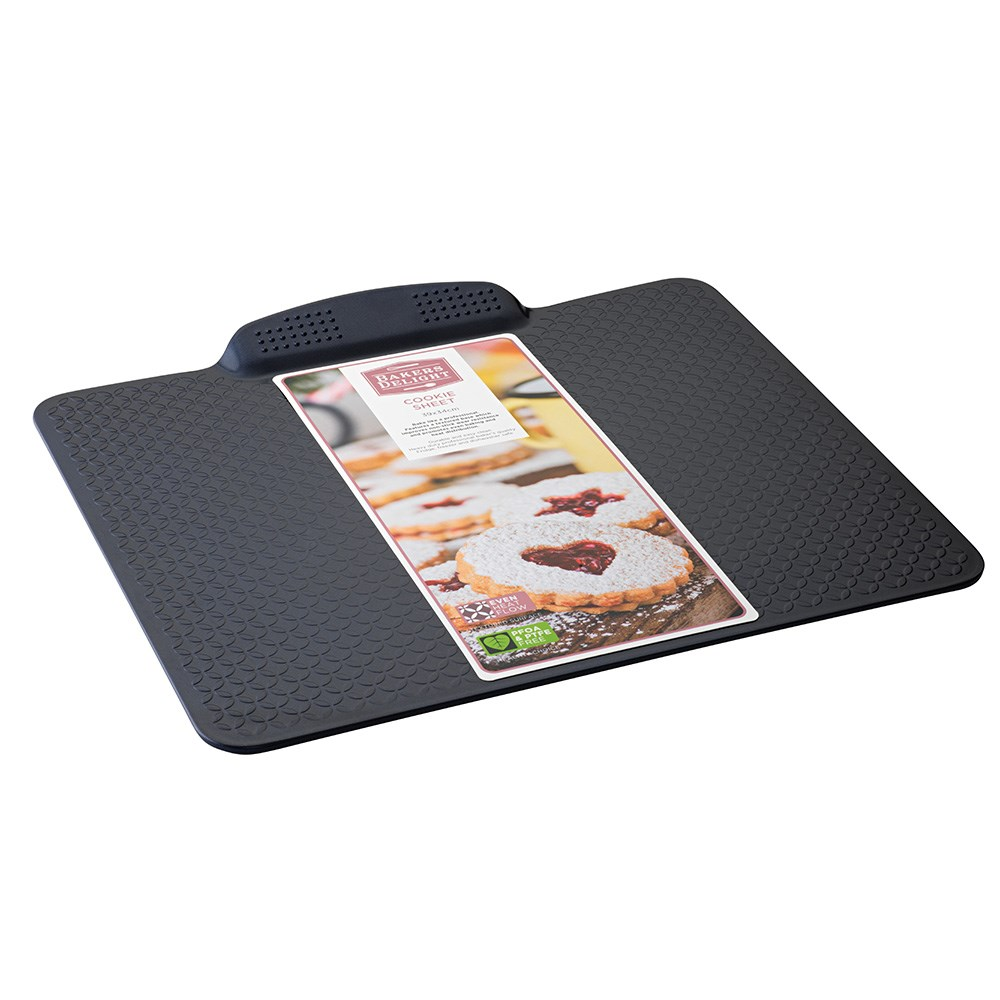 Bakers Delight Cuisson Carbon Steel Non Stick Cookie Sheet Baking Tray 39cm Navy