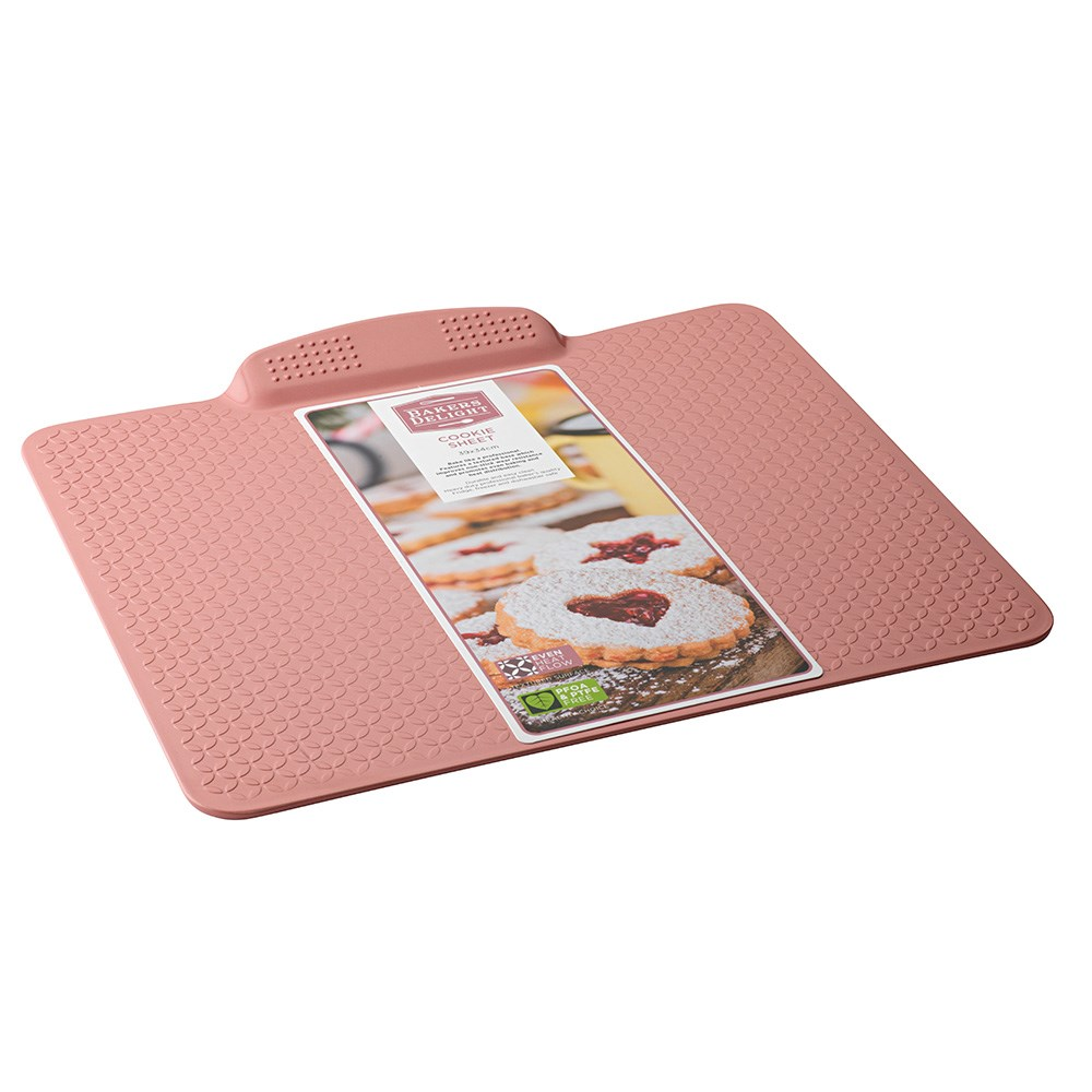 Bakers Delight Cuisson Carbon Steel Non Stick Cookie Sheet Baking Tray 39cm Rose