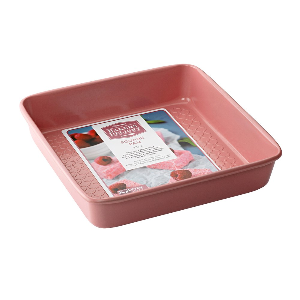 Bakers Delight Cuisson Carbon Steel Square Baking Pan 23cm Rose