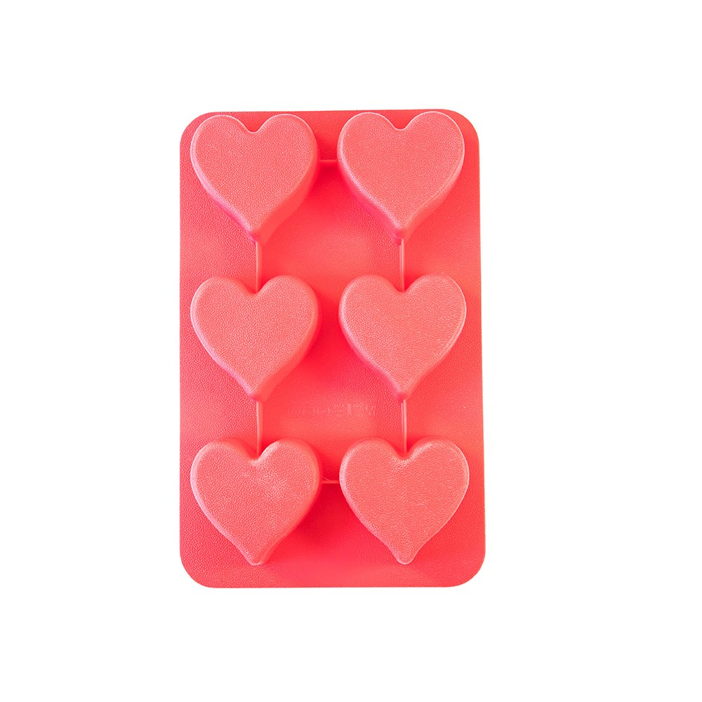 Soffritto Professional Bake Novelty Silicone 6 Cup Cake Pan Heart