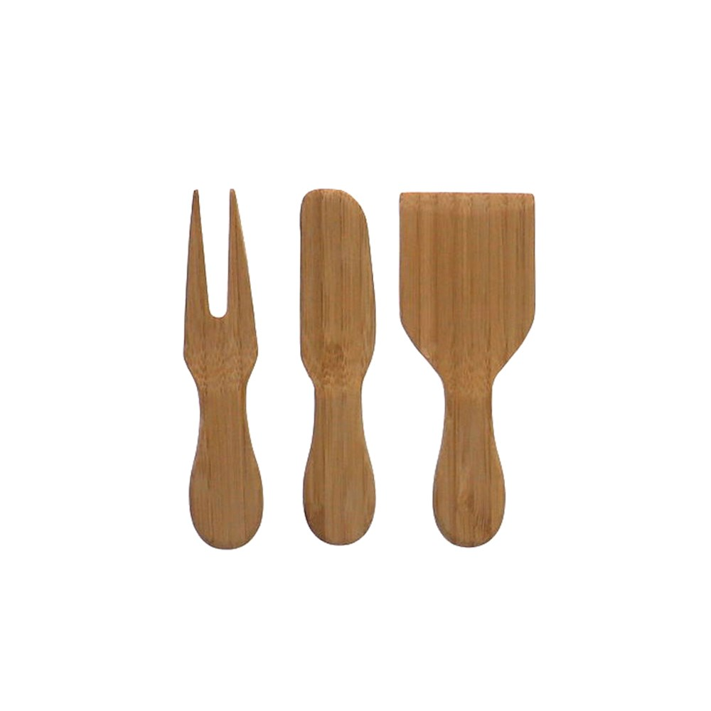 Ambrosia Karira 3 Piece Bamboo Cheese Knife Set