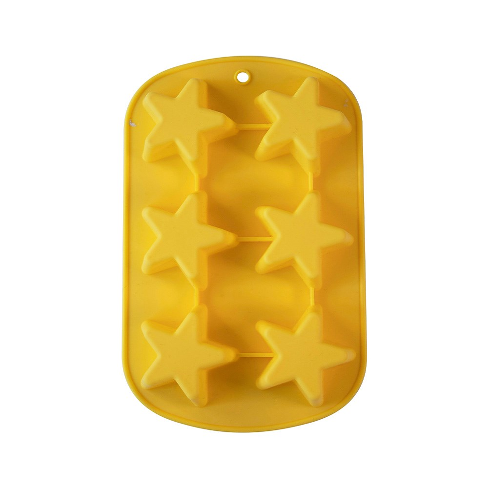 Soffritto Professional Bake 6 Cup Silicone Star Mould Baking Tray
