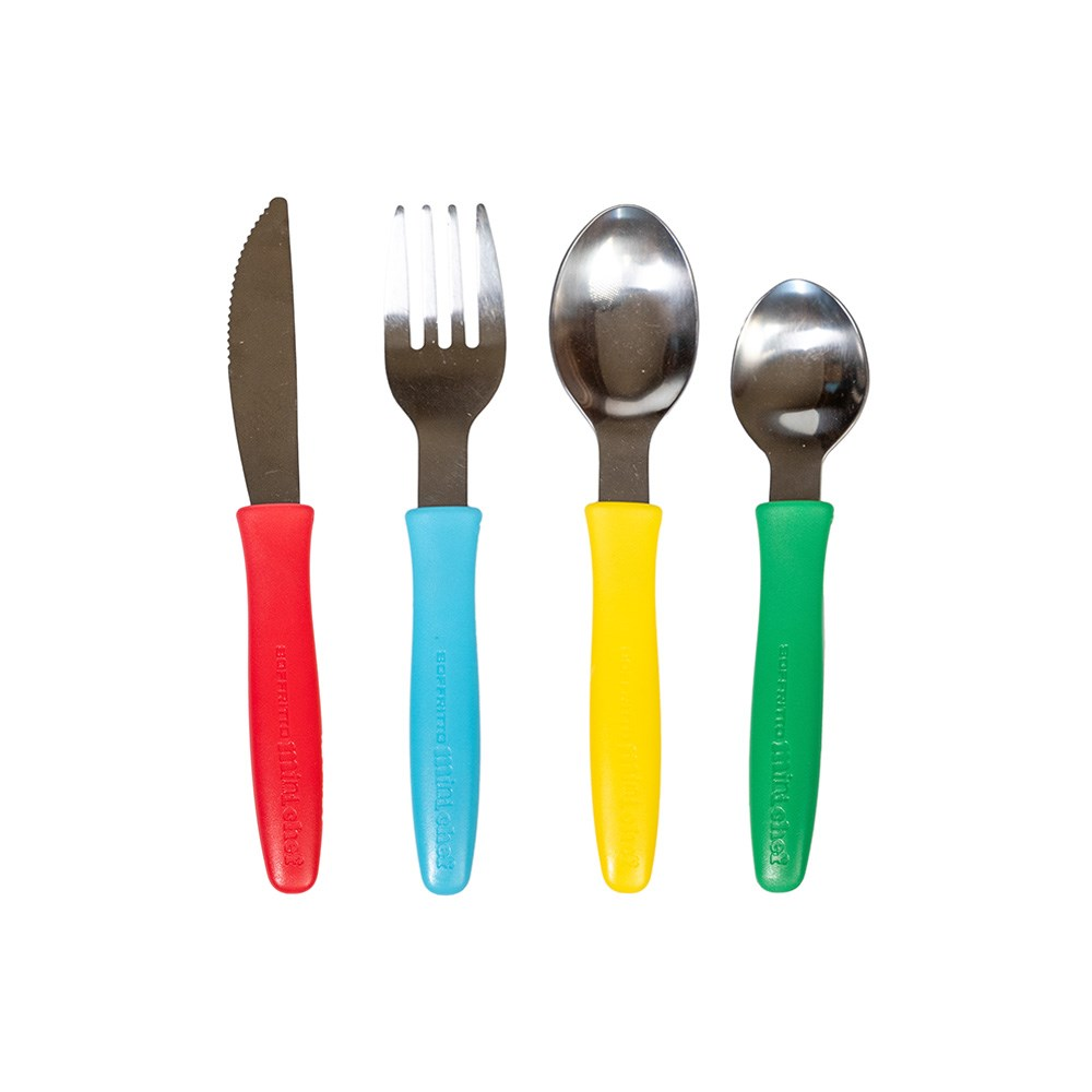 Soffritto Mini Chef 4 Piece Stainless Steel Children's Cutlery Set