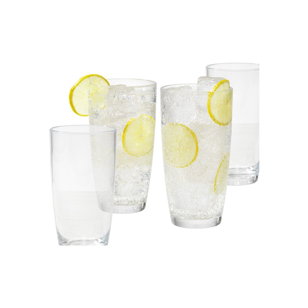 Cellar By The Pool 4 Piece Shatterproof Outdoor Tumbler Set Clear