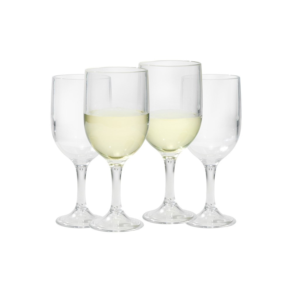 Cellar By The Pool 4 Piece Shatterproof Outdoor Wine Glass Set Clear